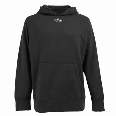 Baltimore Ravens Mens Signature Hooded Sweatshirt (Color: Black)