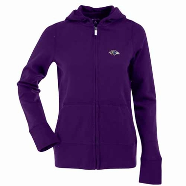 Baltimore Ravens Womens Zip Front Hoody Sweatshirt (Color: Purple)