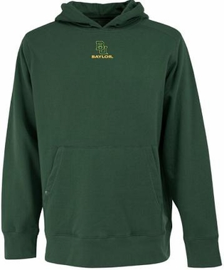 Baylor Mens Signature Hooded Sweatshirt (Color: Green)