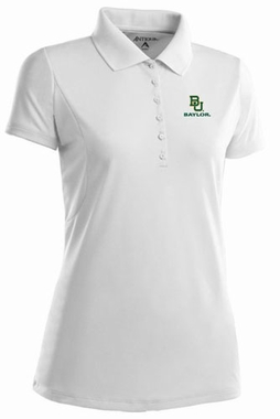 Baylor Womens Pique Xtra Lite Polo Shirt (Color: White)