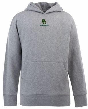 Baylor YOUTH Boys Signature Hooded Sweatshirt (Color: Silver)