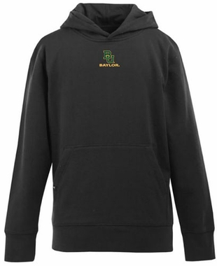 Baylor YOUTH Boys Signature Hooded Sweatshirt (Color: Black)