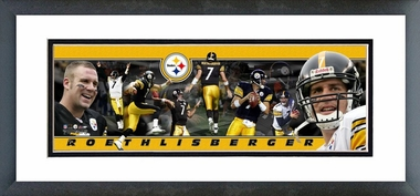 Ben Roethlisberger - Framed / Double Matted Photoramic