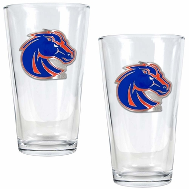 Boise State 2 Piece Pint Glass Set