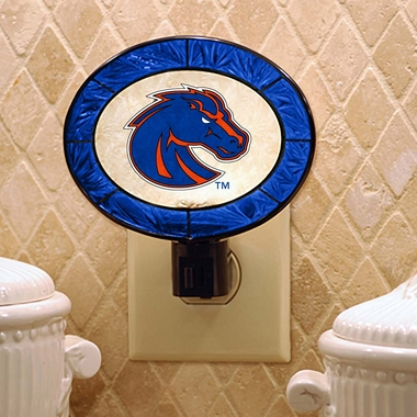 Boise State Art Glass Night Light
