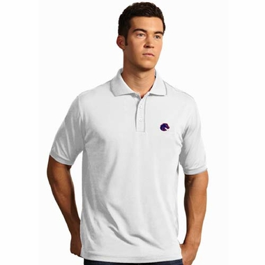 Boise State Mens Elite Polo Shirt (Color: White)