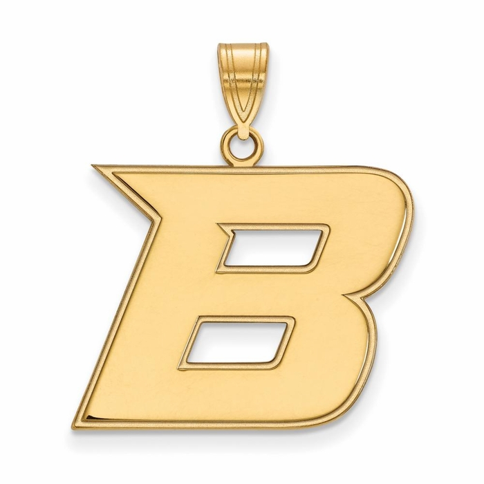 boise state large  3  4 inch  pendant  14k yellow gold Boise State Logo Stencil Boise State New Logo