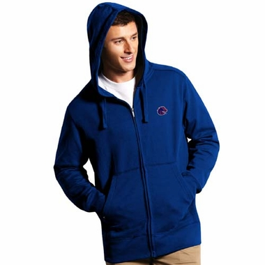 Boise State Mens Signature Full Zip Hooded Sweatshirt (Color: Royal)