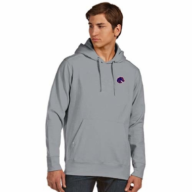 Boise State Mens Signature Hooded Sweatshirt (Color: Gray)