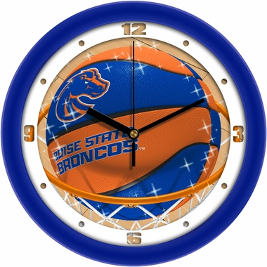 Boise State Slam Dunk Wall Clock