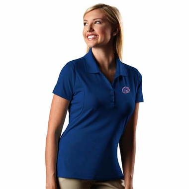 Boise State Womens Pique Xtra Lite Polo Shirt (Color: Blue)