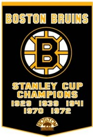 "Boston Bruins 24""x36"" Dynasty Wool Banner"