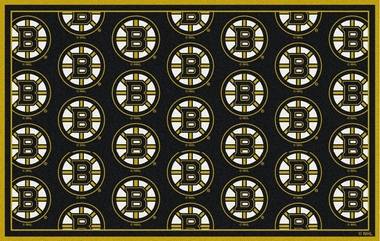 "Boston Bruins 7'8 x 10'9"" Premium Pattern Rug"