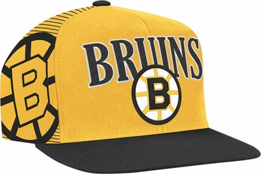 Boston Bruins Double Graphic Laser Stitched Snap Back Hat