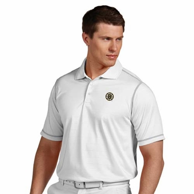 Boston Bruins Mens Icon Polo (Color: White)