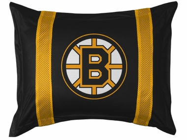 Boston Bruins SIDELINES Jersey Material Pillow Sham