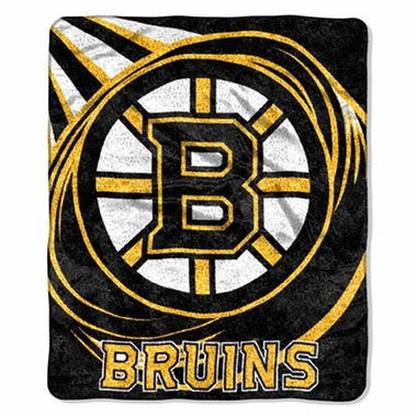 Boston Bruins Super-Soft Sherpa Blanket