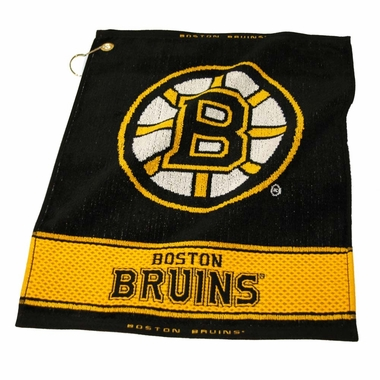 Boston Bruins Woven Golf Towel