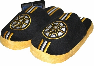 Boston Bruins YOUTH Team Stripe Plush Slippers