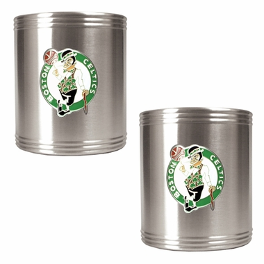 Boston Celtics 2 Can Holder Set