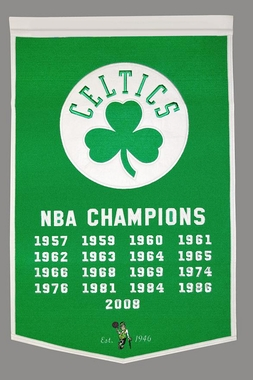 "Boston Celtics 24""x36"" Dynasty Wool Banner"
