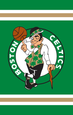 Boston Celtics Applique Banner Flag