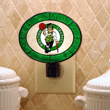 Boston Celtics Art Glass Night Light