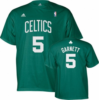 Boston Celtics Kevin Garnett Player Name and Number T-Shirt