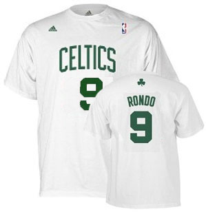 Boston Celtics Rajon Rondo YOUTH Name and Number T-Shirt