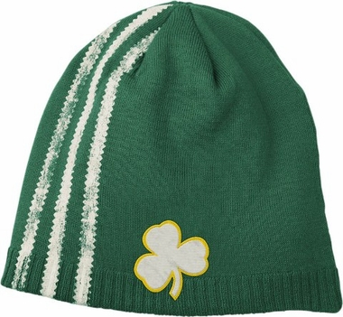 Boston Celtics Retro Cuffless Distressed Striped Knit Hat