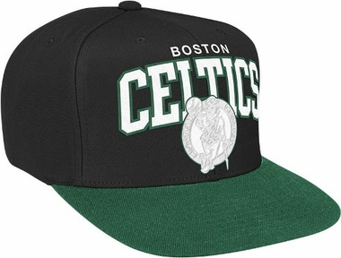 Boston Celtics Snap Back Hat (White Logo)