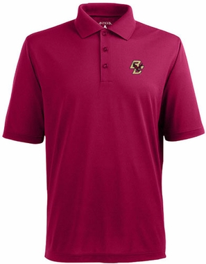Boston College Mens Pique Xtra Lite Polo Shirt (Color: Maroon)
