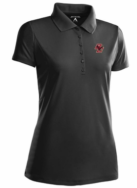 Boston College Womens Pique Xtra Lite Polo Shirt (Color: Black)