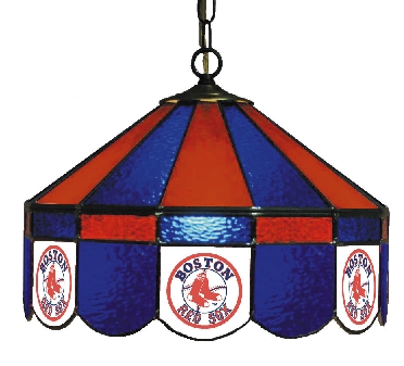 Boston Red Sox 16 Inch Diameter Stained Glass Pub Light