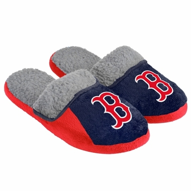 Boston Red Sox 2012 Mens Sherpa Slide Slippers