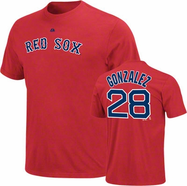 Boston Red Sox Adrian Gonzalez Name and Number T-Shirt
