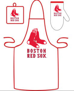 Boston Red Sox Grilling Apron Set