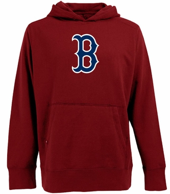 Boston Red Sox Big Logo Mens Signature Hooded Sweatshirt (Color: Red)