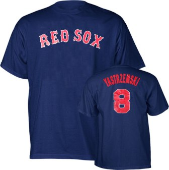 Boston Red Sox Carl Yastrzemski Name and Number T-Shirt
