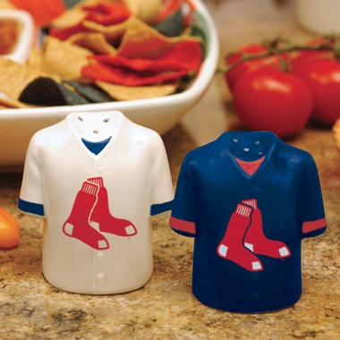 Boston Red Sox Ceramic Jersey Salt and Pepper Shakers