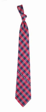 Boston Red Sox Check Poly Necktie
