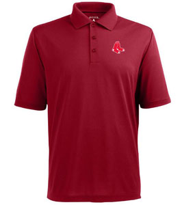 Boston Red Sox Mens Pique Xtra Lite Polo Shirt (Color: Red) - X-Large