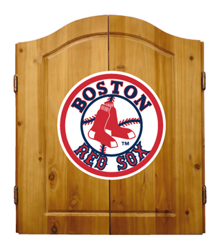 Boston Red Sox Complete Dart Cabinet