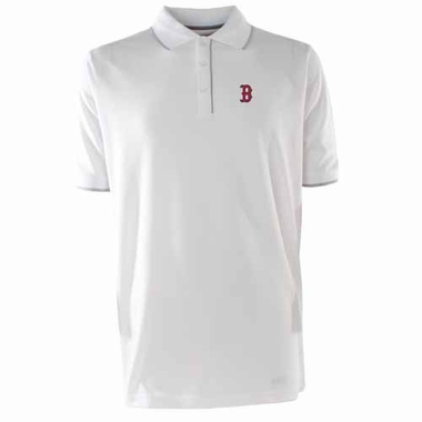 Boston Red Sox Mens Elite Polo Shirt (Color: White)
