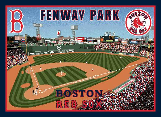 Boston Red Sox Fenway Park Woven Tapestry Throw Blanket Cool Red Sox Throw Blanket