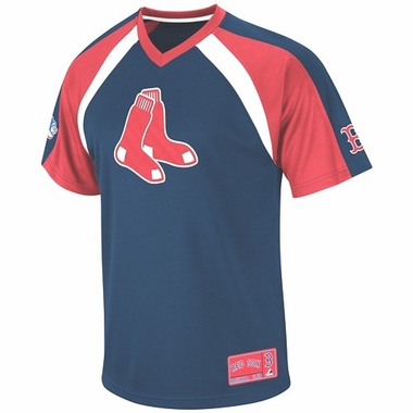 Boston Red Sox Jetstream V-Neck Navy Jersey