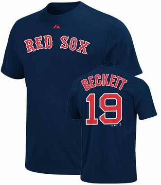 Boston Red Sox Josh Beckett Name and Number T-Shirt