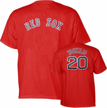 Boston Red Sox Kevin Youkilis Name and Number T-Shirt