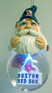 Boston Red Sox Light Up Gnome Snow Globe Ornament