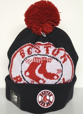 Boston Red Sox New Era Woven Biggie Cuffed Knit Hat